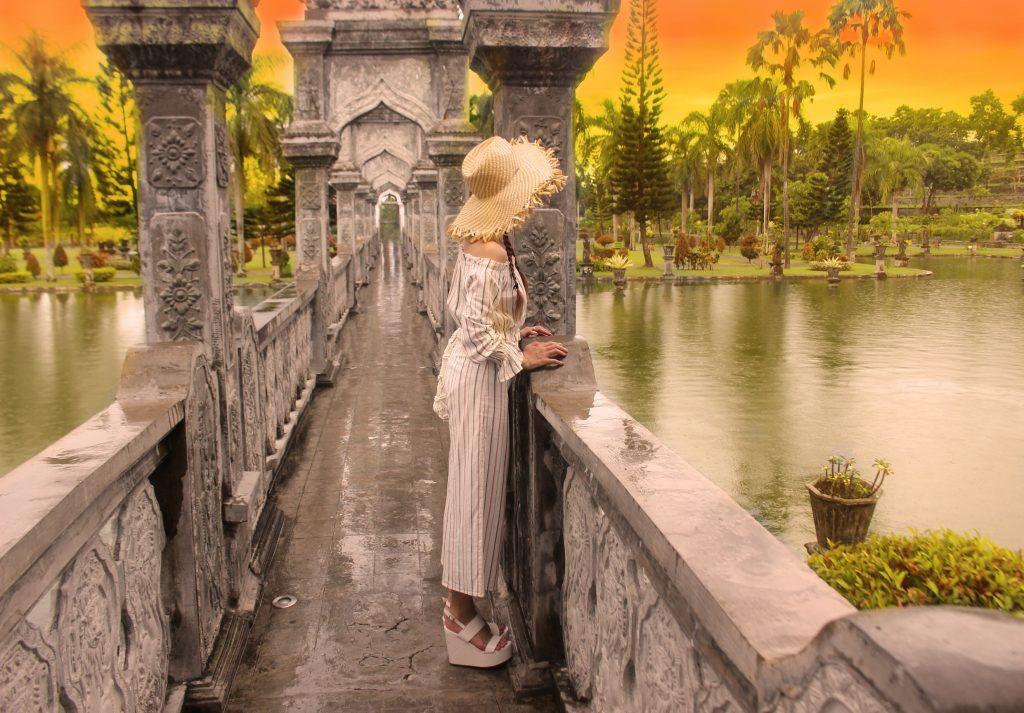 バリ島のウォーターパレスで撮影した私の写真