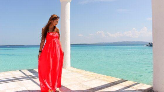 フィリピンのセブ島に海外旅行に行った時の私の写真