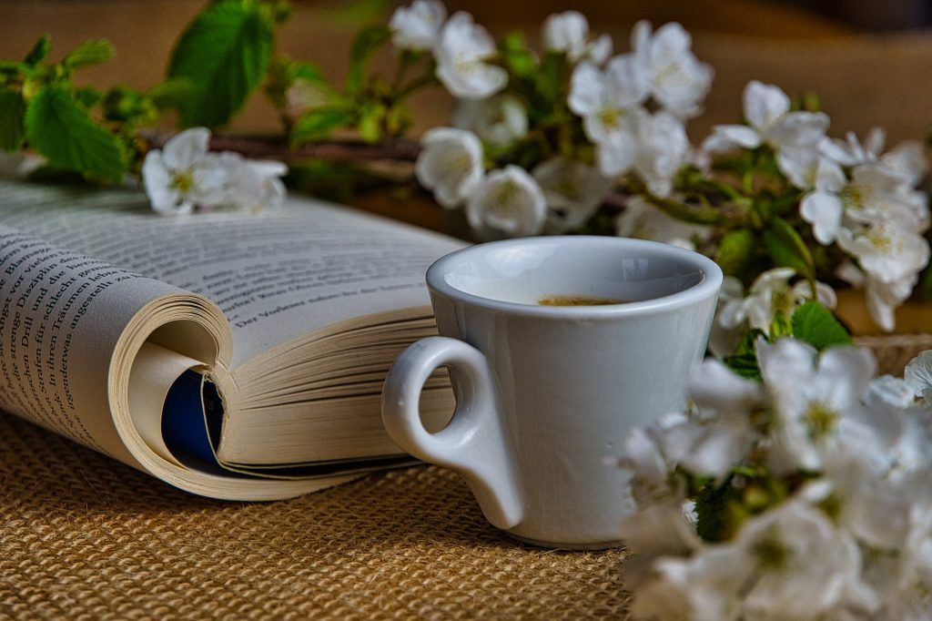 stay home with a book and cafe