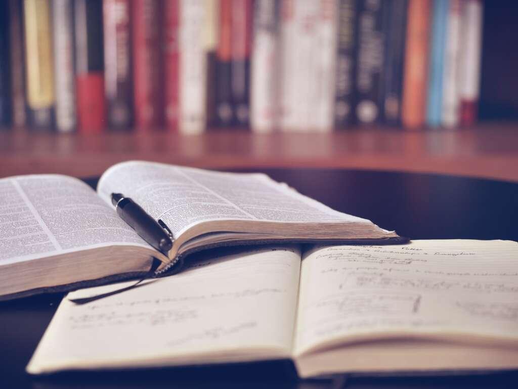 たくさんの本で読書をしている写真