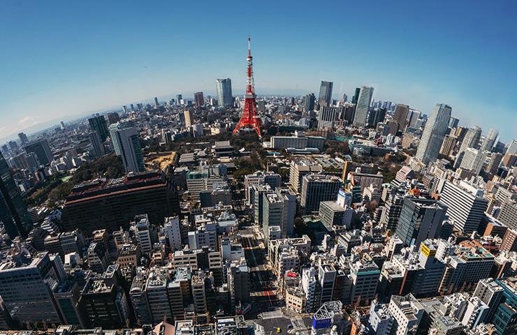 日本のビジネス街の景色