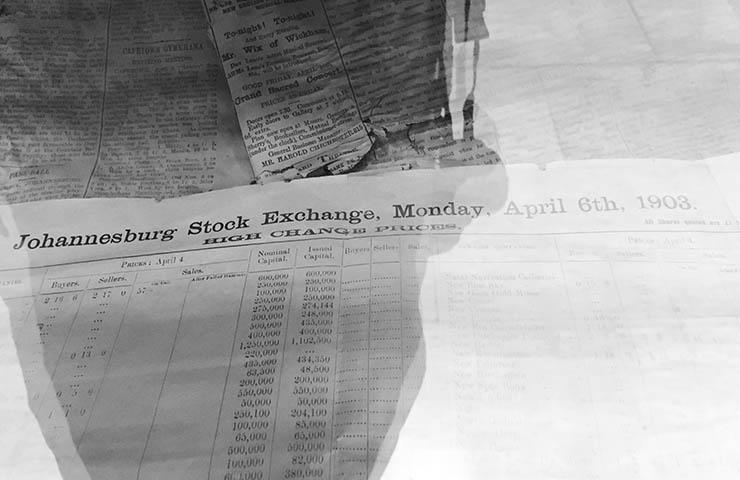 株式取引についての新聞
