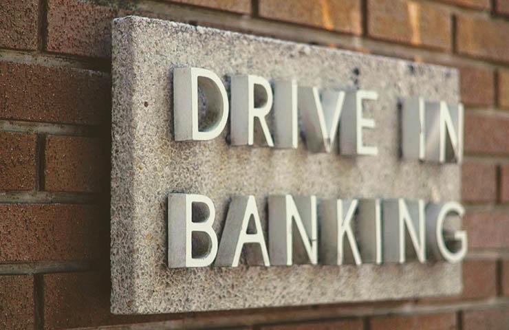 ドライブインの銀行