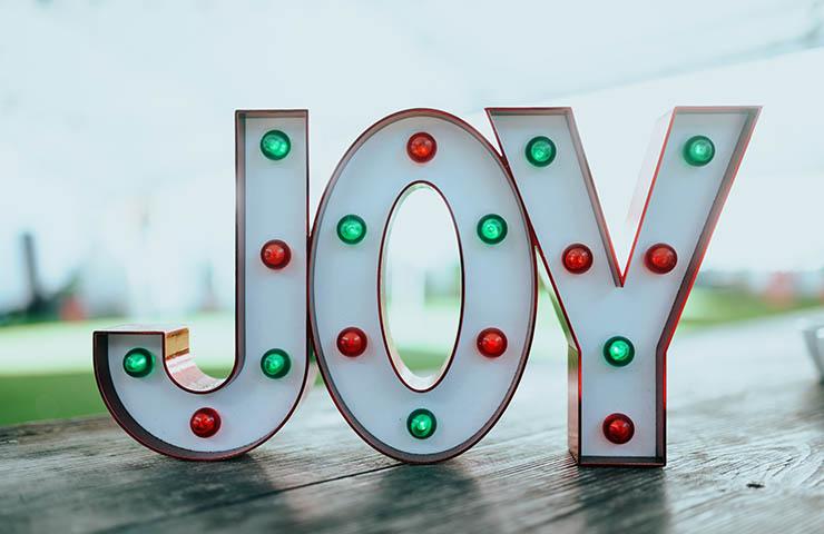 「Joy」の文字