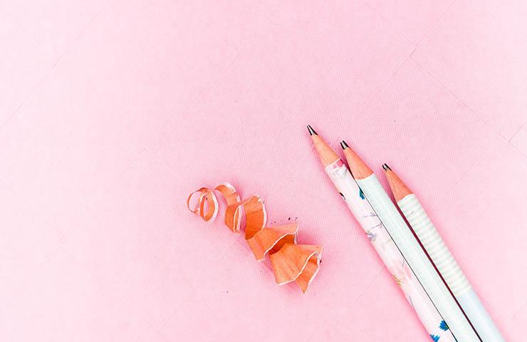 レビュー用の鉛筆