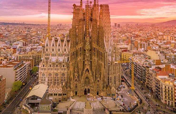 スペイン・バルセロナのサクラダファミリア