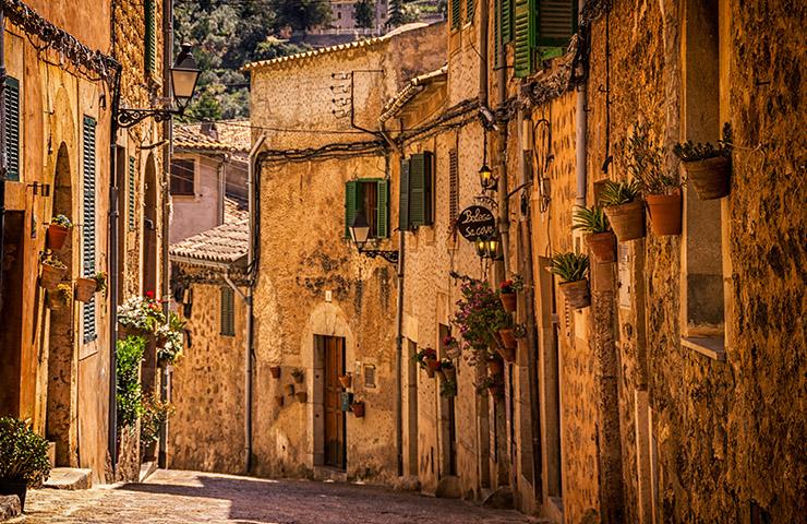スペインの小さな村