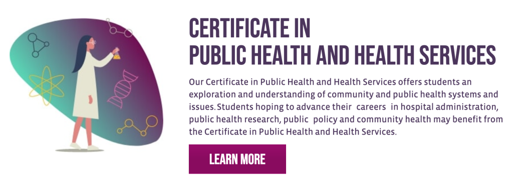 Certificate in Public Health and Health Services