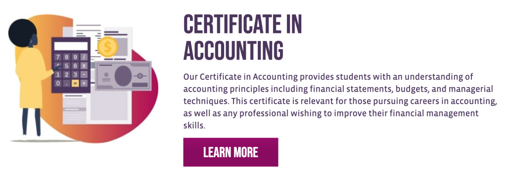 Certificate in Accounting