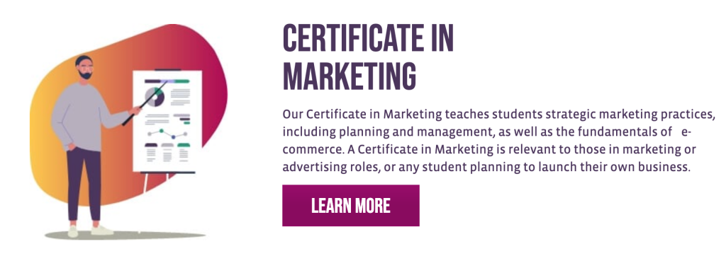 Certificate in Marketing