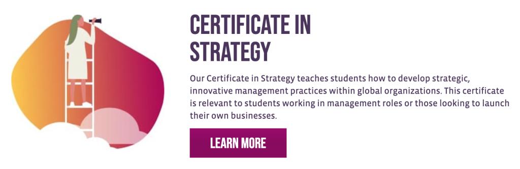 Certificate in strategy