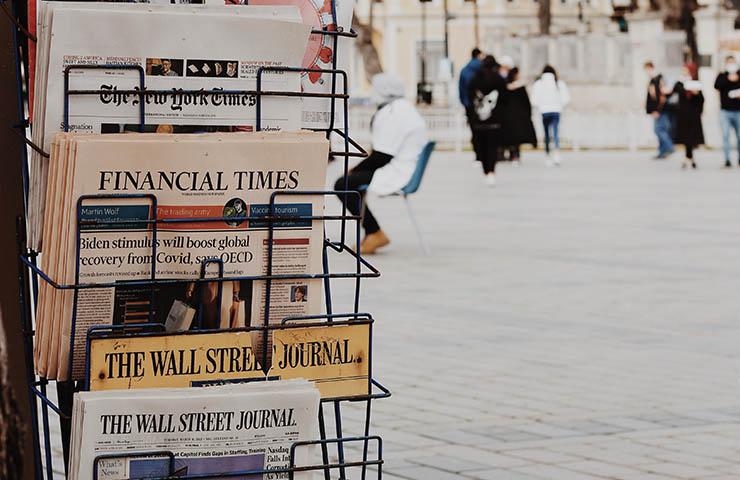 ファイナンスやビジネスの新聞たち