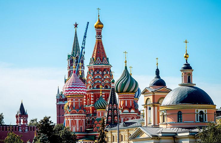 社会主義国ロシアのモスクワ