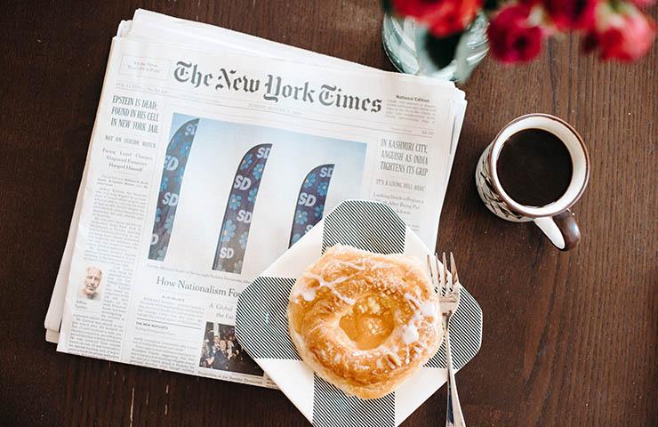 新聞のThe New York Times