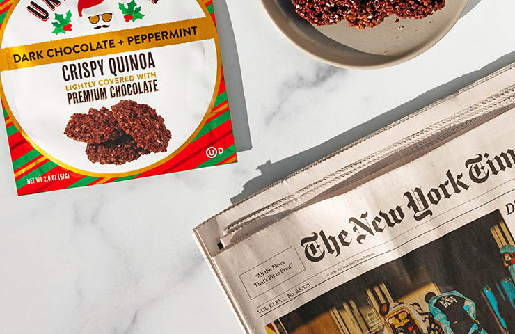 朝食中のNew York Times