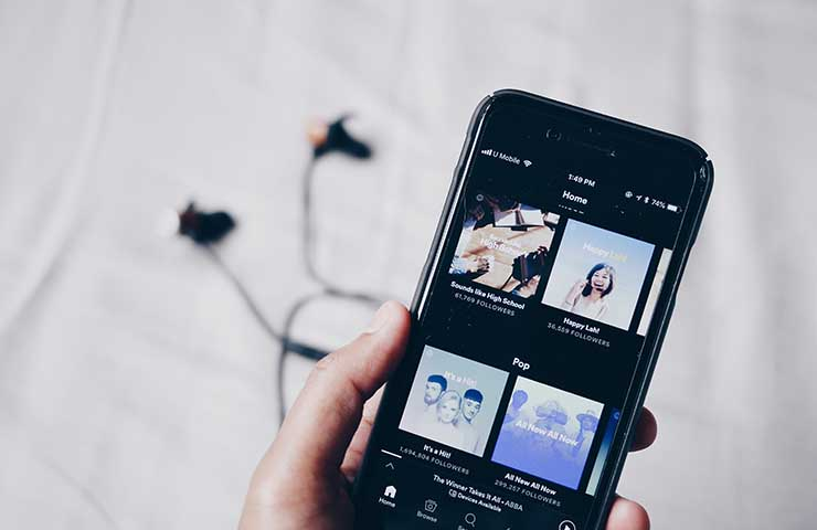 Spotifyのアプリ