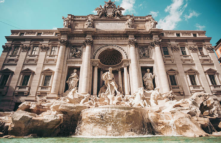 イタリアのローマで旅行